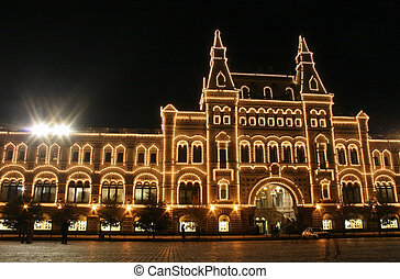 moscow night shop. red square
