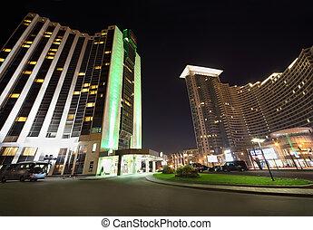 MOSCOW - OCTOBER 10: Hotel Holiday Inn, House in Sokolniki ...
