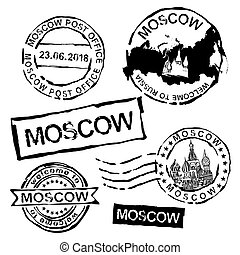 Moscow Postal Stamps
