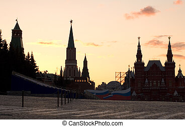 Moscow red square - Russia. Moscow, red square, wall and ...