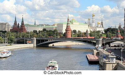 Moscow River and Kremlin Embankment