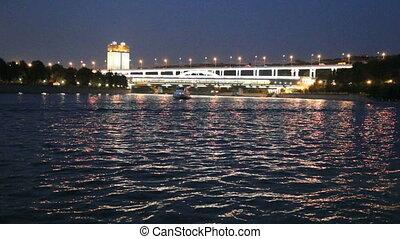 Moscow River, Luzhnetskaya Bridge (Metro Bridge) and...