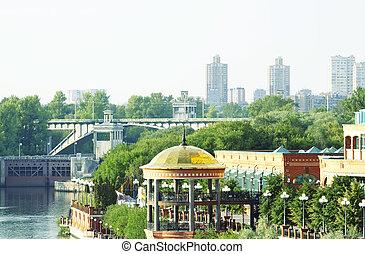 Moscow riverside embankment