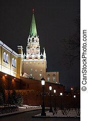 Trinity tower at night