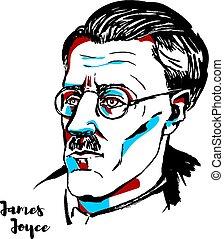 James Joyce - MOSCOW, RUSSIA - AUGUST 21, 2018: James Joyce...