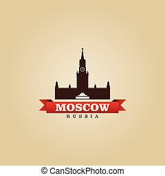 Moscow Russia city symbol vector illustration