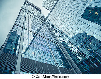 """Moscow, Russia - September 13, 2016: Modern glass skyscrapers in the Business center """"Moscow-city"""""""