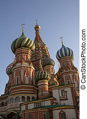 Moscow, Russia summer day. View of the St. Basil's Cathedral in Moscow on Red Square.