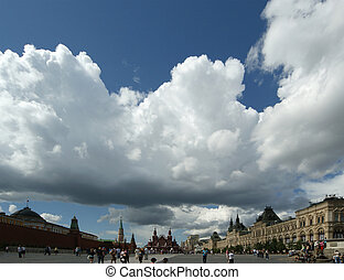 Moscow, Russia, the panorama of Red Square