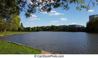 Moscow, Russia - Victory Park - city park in Zelenograd -...