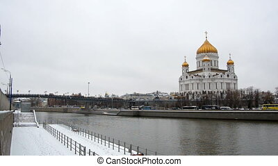 MOSCOW, RUSSIA Winter view of Christ the Savior Cathedral