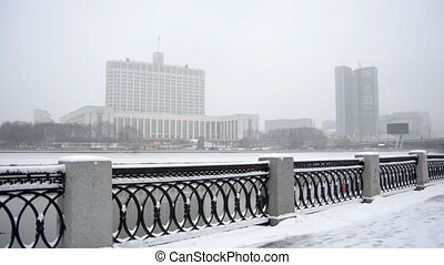 MOSCOW, RUSSIA Winter view of the Russian White House