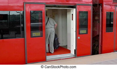 Aeroexpress train - Moscow, Russian Federation, August...