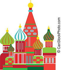 moscow russian onion dome illustration - Cathedral of the...