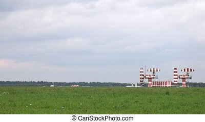 AEROFLOT planes go on take-off field near radar on...