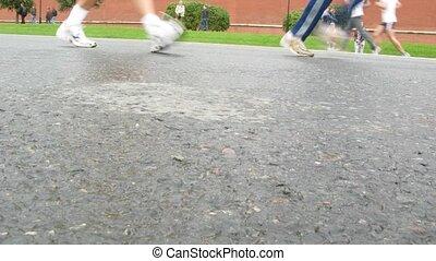 Participants run on XXX MOSCOW INTERNATIONAL PEACE MARATHON