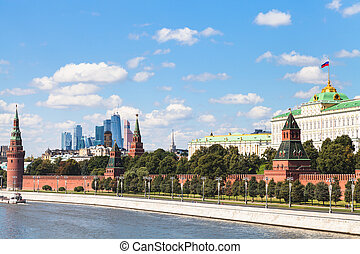 Kremlin embankment, State Palace, Moscow City