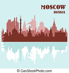 Moscow skyline, Russia