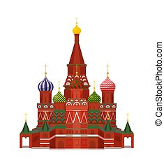Moscow St Basil Cathedral Vector Illustration