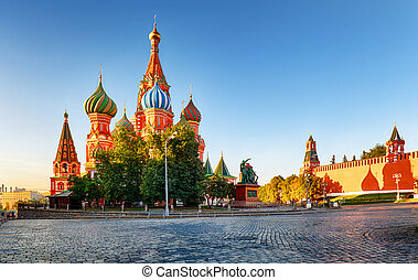 Moscow, St. Basil's Cathedral in Red square, Russia