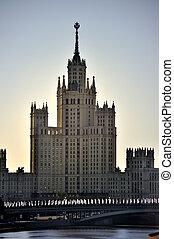 moscow., stalin, wolkenkratzer