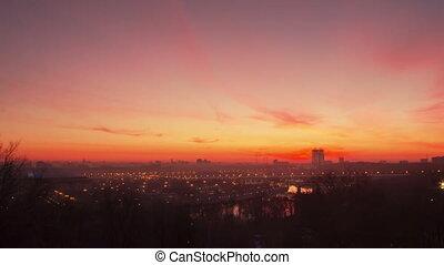 Moscow sunrise timelapse