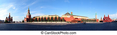 Moscow. The red area. Blessed Vasily's temple . The Kremlin. The mausoleum. The state historical museum.