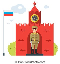 Moscow. Vector Flat style colorful Cartoon illustration -...
