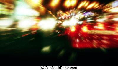 (moscow)., ville, par, hd, nuit