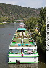 moselle, 巡航船, 德國, cochem, 河