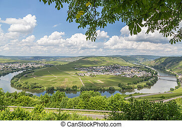 Moselle Loop at Trittenheim Panorama Germany