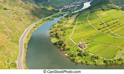 Moselle River Valley Timelapse, Germany - Timelapse sequence...