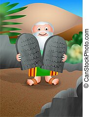 Moses and The Ten Commandments - Really cute cartoon ...