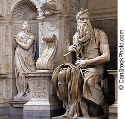 Moses by Michelangelo in San Pietro in Vincoli, Rome, Italy