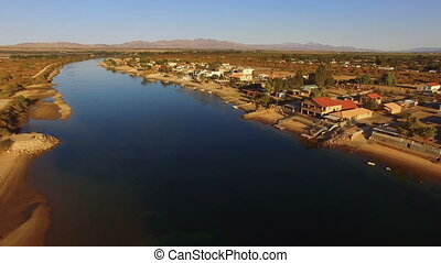Moses Lake City Skyline Washington State - An Aerial view of...