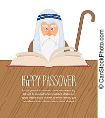 Moses reading Passover Haggadah - Moses reading Passover...