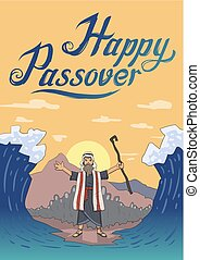 Moses separates sea for Passover holiday over mountain ...