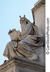 Moses statue on the Column of the Immaculate Conception by ...