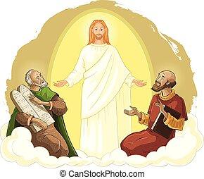 moses, transfiguration, キリスト, elijah, イエス・キリスト
