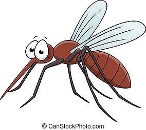 moskito, karikatur