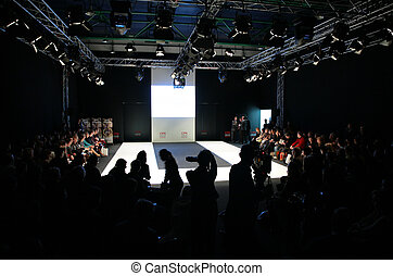 moskva, -, februari, 26:, kollektion, premiär, moscow.,...