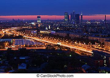 """moskva, -, maj, 15:, moskva, stad, komplex, på, maj, 15, 2011, in, moskva, russia., ägare, av, """"flow, av, infinity"""", planer, det, båda, står hög, federation, in, firma center, moskva, stad, vilja, vara, kompletterat, inom, 2, years."""