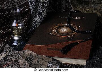 moslim, boek, heilig