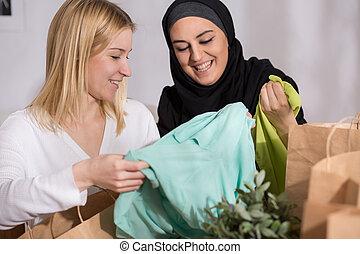 moslim, shoppen , vrouwlijk, na