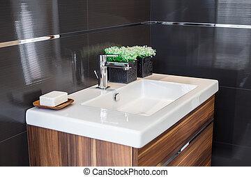 mosogató, fürdőszoba
