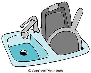 mosogató, konyha