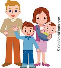 mosoly, család, boldog