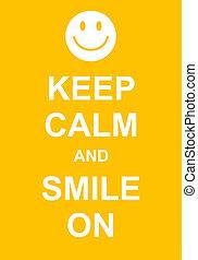 mosoly, csendes, tart