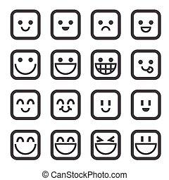 mosoly, ikon