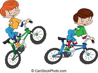 mosoly, kerékpáros